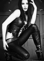 sexy in her leather by markovicgoran