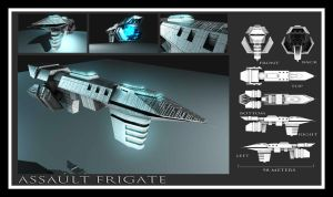 Assault Frigate by Davis--237834