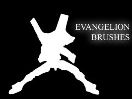 Evangelion Silhouette Brushes by clem13