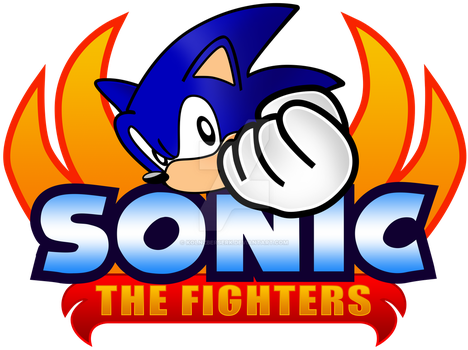 Sonic The Fighters Logo Recreation (1OK) by KolnzBerserK