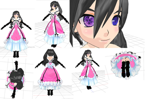 Ciel MMd Model WIP Dress by Passionateshadow