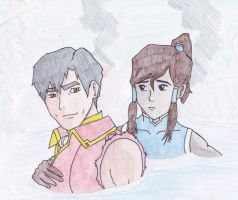 General Iroh and Korra by Marianne2O