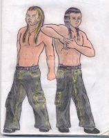 Hardy Boyz Matt and Jeff by MelyssaThePunkRocker