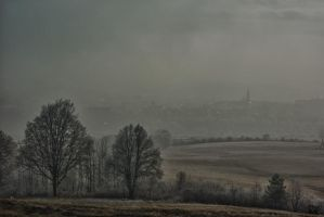Misty Levoca town by minko2312