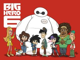 Big Hero 6 Characters by Erich0823