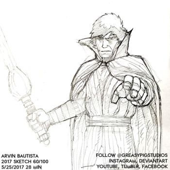 Arvin Bautista Sketches 2017 60/100: Luke 1 by greasypigstudios