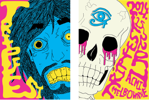 'TRIPFEST' Psychedelic Flyers OR Posters by Cam-wis