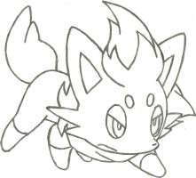 Zorua Sketch by CoolMan666