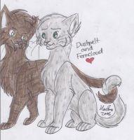 Dustpelt and Ferncloud by MarikaGirl
