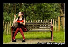 Miss Lucy Fur: gothic lolita_1 by DevillePhotography