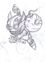 Ziggs, The Hexplosives Expert - Sketch by KyraXIII