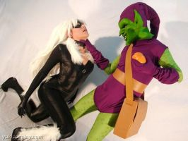 Black Cat X Green Goblin by Yukilefay