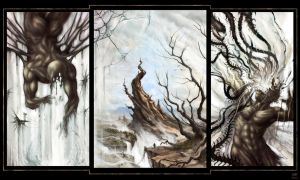 The Triptych Inside by Maxa-art