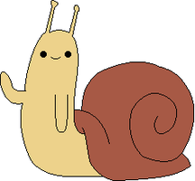 Euvoria - Adventure time snail by Nicolol881