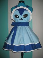 Vaporeon Pokemon Gijinka Inspired Cosplay Pinafore by DarlingArmy