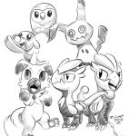 Pokemon sun moon sketches small sketch dump by zilvart