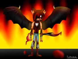 Hellfire the hedgebat by Kathy-the-echidna