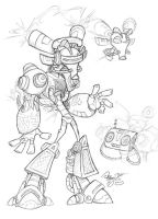 DJ-Bot Character Sheet by The-HT-Wacom-Man