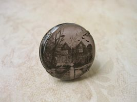 Haunted House Clay Ring by SMAfactory