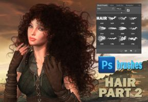 Hair Part 2 by Trisste-stocks