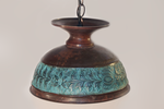 Brass Hanging Lamp with Patina by ClassicRedo