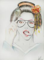 Hipster Geisha by Z-OMBOID