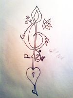 Musical Tattoo by Kriispy