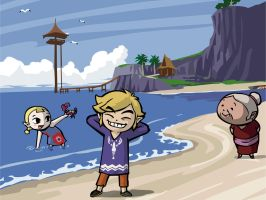 Wind Waker Beach :D by Cetanu12