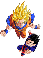 Goku y Son Gohanda by BardockSonic