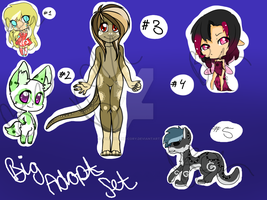 ~ OPEN ~ Adoptable Set LOWERED PRICE by Goldeye-and-Cory