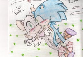 Sonic and Rouge first sight by CherriSkullz