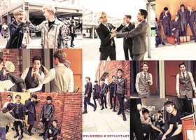 MCM x EXO AW Lookbook Making Photo photo pack by hyukhee05