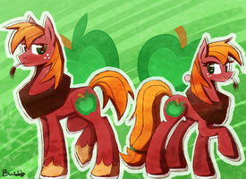 Big Macintosh and Macareina by BlacksWhites