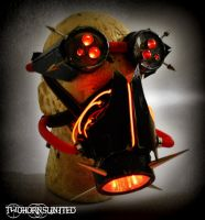 The Transfixion Cyber LED gas mask and goggles set by TwoHornsUnited