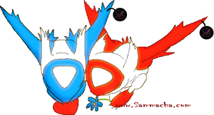 Latios and Latias V-Day dolls by sammacha