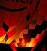 Red and orange balloon by terryrunion