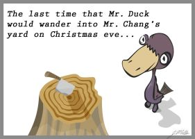 Mr Duck and Mr Chung by furryomnivore