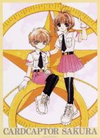 Syaoran and Sakura as girl scout by gorgeous1223