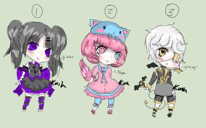 Cute School themed adopts OPEN by KandyKain-Adopts