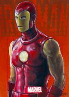 Iron Man marvel 70th card 46 by charles-hall