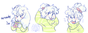 asriel + a scrunchy by dongoverlord