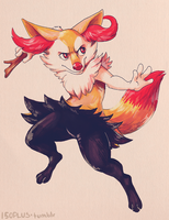 150+ project: braixen by edface
