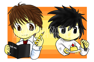 Death Note Chibis by kazenooto
