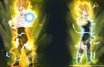 Two Super Saiyan Legends by angers