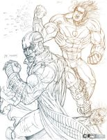 The Midnighter N Apollo sketch by fig