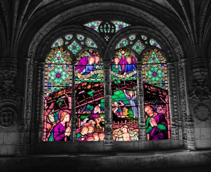 Castle Window Stock Pinks and Purples by vamp1967