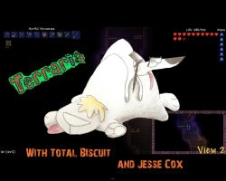 Totalbiscuit and Jesse Cox Terraria by Bruenj