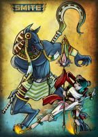 SMITE Anubis Ne Zha Fight by BehindtheVeil