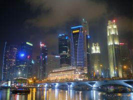 Singapore River HDR by kentnek