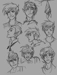 Marshall Lee Hairstyle Sketches by Hootsweets